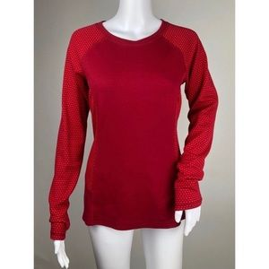Eddie Bauer Red Athleisure Top Size M